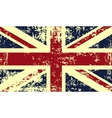 Grunge flag of great britain vector image