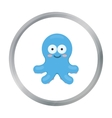 Octopus cartoon icon for web and vector image