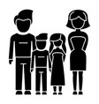 family - 4 persons - father mother son daughter vector image