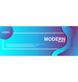 abstract banner with gradient color vector image vector image