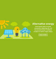alternative energy banner horizontal concept vector image