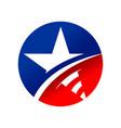 american star circle symbol logo design vector image