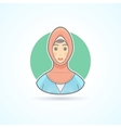 Arabian woman in traditional national cloth icon vector image