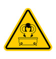 attention girl in bath yellow prohibitory sign of vector image vector image