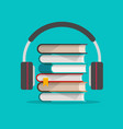 audio books with headphones concept vector image vector image