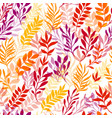 autumn floral seamless pattern with leaves vector image vector image