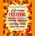autumn party festival invitation poster