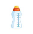 baby bottle of milk on a white vector image