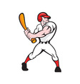 Baseball Player Batting Cartoon vector image vector image