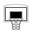 basketball backboard and hoop icon image vector image vector image