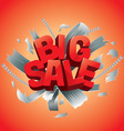 big sale sign vector image vector image