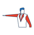 business man character person in blue and orange vector image