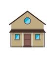 cartoon familiy house countryside vector image