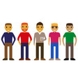cartoon people on a white background vector image vector image