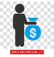 Child Investor Eps Icon vector image vector image