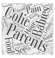 colic infant Word Cloud Concept vector image vector image