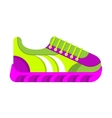 color fashionable sneakers vector image vector image