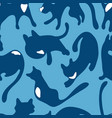 colorful seamless pattern with cats digital vector image