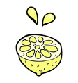 comic cartoon fresh lemon vector image