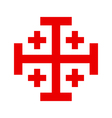 Cross of the Holy Sepulchre Order vector image vector image