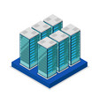 data centre with server racks isometric 3d icon vector image