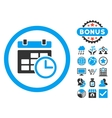 Date and Time Flat Icon with Bonus vector image vector image
