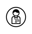 doctor icon on a white background vector image vector image