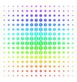 financial settings gear icon halftone spectrum vector image