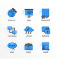 flat icon set design bkue vector image