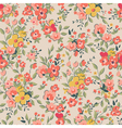 floral pattern pink background vector image vector image