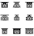 freplace icon set vector image
