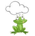 Frog thinking vector image
