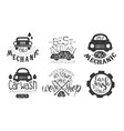 garage best in town premium quality retro labels vector image
