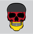 germany flag head skull vector image vector image