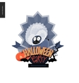 Halloween Party composed sign vector image vector image