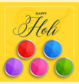 happy holi festival of colors background vector image vector image
