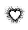 heart in points design heart logo love vector image vector image