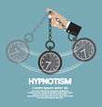 Hypnotism By Using A Clock vector image