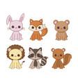 kawaii animals desing vector image