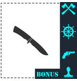 knife icon flat vector image vector image
