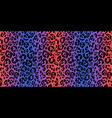 leopard horizontal vector image vector image