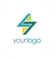 letter s shape business logo vector image