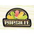logo for fruit popsicle vector image