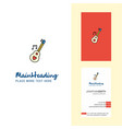 love guitar creative logo and business card vector image vector image