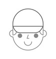 man face with cap cartoon repair character work vector image vector image