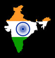 map india with flag india map with flag vector image vector image