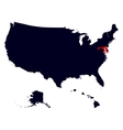 Maryland State in the United States map vector image vector image