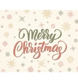 Merry christmas brush lettering against background vector image vector image