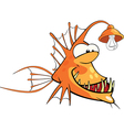Monkfish Deep-water fish Cartoon vector image vector image