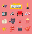 movie and film icons set vector image vector image